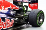 Flow-vis paint on the rear wing of the Red Bull Racing