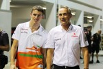 Paul di Resta, Sahara Force India F1 with Martin Whitmarsh, McLaren Chief Executive Officer