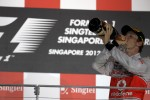 Podium: second place Jenson Button, McLaren Mercedes