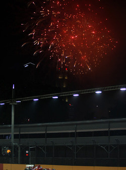 Fernando Alonso, Ferrari with fireworks in the sky
