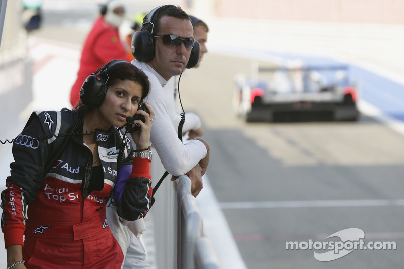 Audi race engineer Leena Gade and Benoit Tréluyer