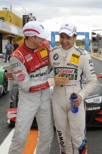 Edoardo Mortara, Audi Sport Team Rosberg; Augusto Farfus Jr., BMW Team RBM