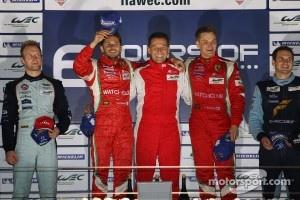 LMGTE Pro podium: winners Giancarlo Fisichella, Toni Vilander