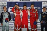 LMGTE Pro podium: winners Giancarlo Fisichella, Toni Vilander