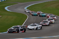 #32 Belgian Audi Club Team WRT Audi R8 LMS ultra: Adam Carroll, Laurens Vanthoor leads from the start