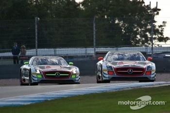 #38 All-Inkl.com Munnich Motorsport Mercedes-Benz SLS AMG GT3:Marc Basseng, Markus Winkelhock #37 All-Inkl.com Munnich Motorsport Mercedes-Benz SLS AMG GT3: Nicky Pastorelli, Thomas Jger  