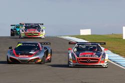 #38 All-Inkl.com Munnich Motorsport Mercedes-Benz SLS AMG GT3:Marc Basseng, Markus Winkelhock #2 Hexis Racing McLaren MP4-12C GT3: Alvaro Parente, Gregoire Demoustier