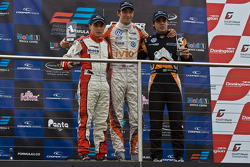 Podium from left: Pipo Derani, Harry Tincknell and Pietro Fantin