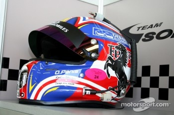 Casque d'Olivier Panis