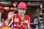 Fernando Alonso, Ferrari with a small toy