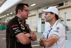 Eric Boullier, Lotus F1 Team Principal with Luis Perez-Sala, HRT Formula One Team, Team Prinicipal