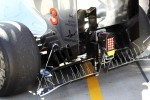 Jenson Button, McLaren MP4/27 running sensor equipment on the rear of the car
