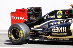 Kimi Raikkonen, Lotus F1 new engine cover detail
