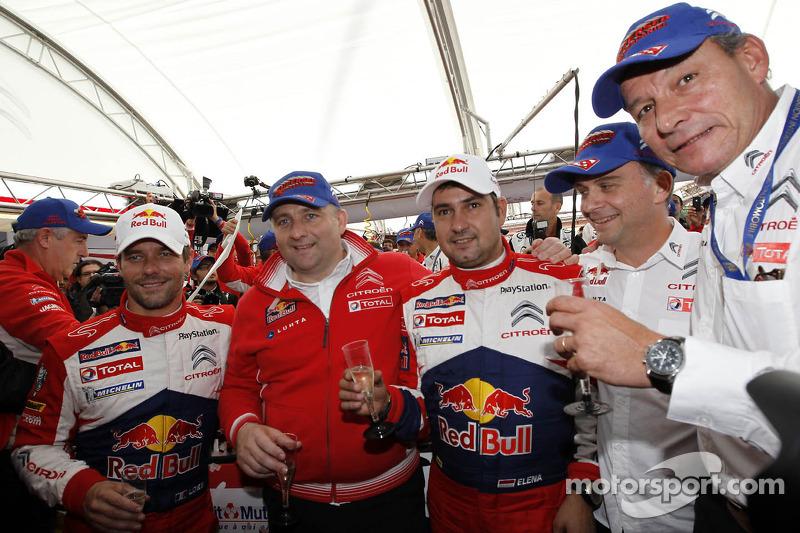 Rally winners and 2012 World Champions Sébastien Loeb and Daniel Elena, Citroën DS3 WRC, Citroën Total World Rally Team