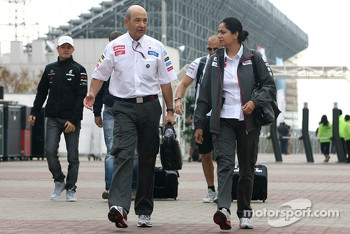Peter Sauber, Sauber F1 Team, Team Owner and Monisha Kaltenborn, Managing director, Sauber F1 Team