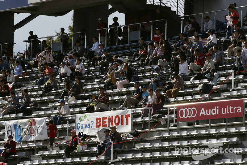Audi fans in the grandstands