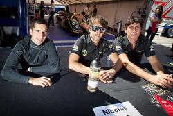 Neel Jani, Nicolas Prost and Andrea Belicchi