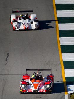 #37 Conquest Endurance Morgan Nissan: Martin Plowman, David Heinemeier Hansson, Eric Lux, #06 CORE Autosport Oreca FLM09: Alex Popow, Ryan Dalziel, Mark Wilkins
