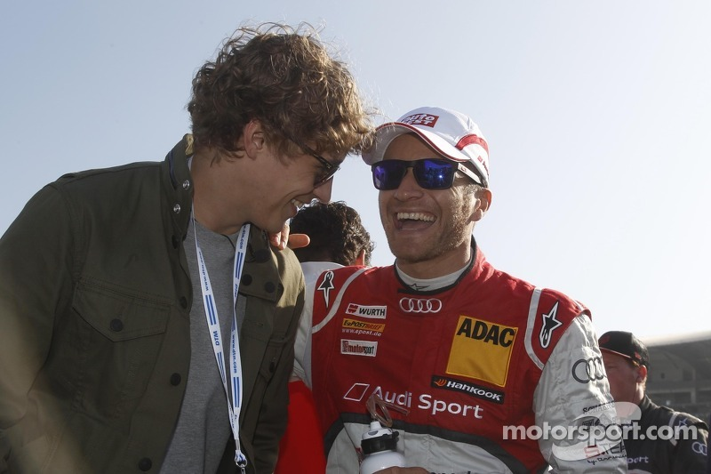Tim Bendzko and Timo Scheider, Audi Sport Team ABT Sportsline Audi A5 DTM