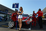 The Grid girl of Gabriele Tarquini, SEAT Leon WTCC, Lukoil Racing Team
