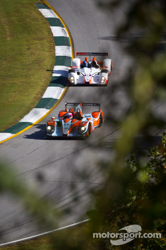 #35 Oak Racing Morgan Nissan: Jacques Nicolet, Bertrand Baguette, Olivier Pla, #05 CORE Autosport Oreca FLM09: Jonathan Bennett, Colin Braun, Ricardo Gonzalez