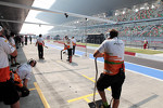 Sahara Force India F1 Team in the pits