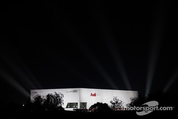 Audi building shines bright at Shanghai circuit
