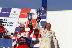 Podium: third place Sébastien Loeb, Gilles Vannelet