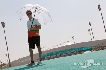 Nico Hulkenberg, Sahara Force India F1 walks the circuit