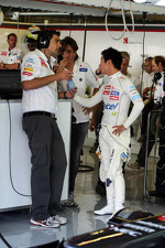Francesco Nenci, Sauber Race Engineer with Esteban Gutierrez, Sauber Third Driver and Kamui Kobayashi, Sauber