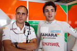 Jules Bianchi, Sahara Force India F1 Team Third Driver, with Gianpiero Lambiase, Sahara Force India F1 Engineer