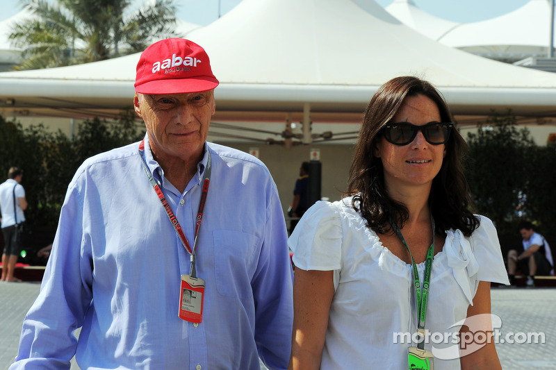 Niki Lauda, with his wife Birgit Wetzinger