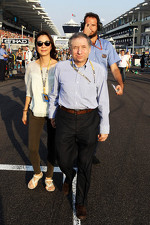 Jean Todt, FIA President with Michelle Yeoh, on the grid