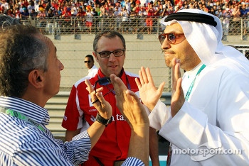Stefano Domenicali, Ferrari General Director with Sheikh Mansour bin Zayed bin Sultan Al Nahyan (Right)