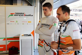 Paul di Resta, Sahara Force India F1 with Gianpiero Lambiase, Sahara Force India F1 Engineer