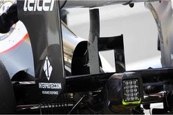 Sauber rear wing detail