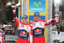 Podium: Mikko Hirvonen and Jarmo Lehtinen, Citroën DS3 WRC, Citroën Total World Rally Team