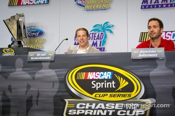 Championship contenders press conference: Brad Keselowski, Penske Racing Dodge and Jimmie Johnson, Hendrick Motorsports Chevrolet
