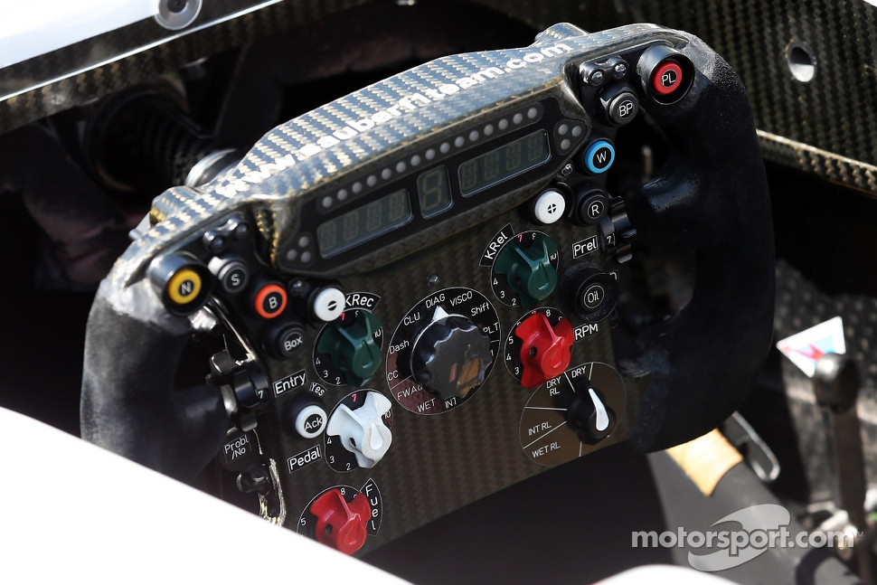 Sauber C31 steering wheel
