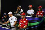 The FIA Press Conference, Bruno Senna, Williams; Lewis Hamilton, McLaren; Felipe Massa, Ferrari; Sebastian Vettel, Red Bull Racing; Michael Schumacher, Mercedes AMG F1; Fernando Alonso, Ferrari