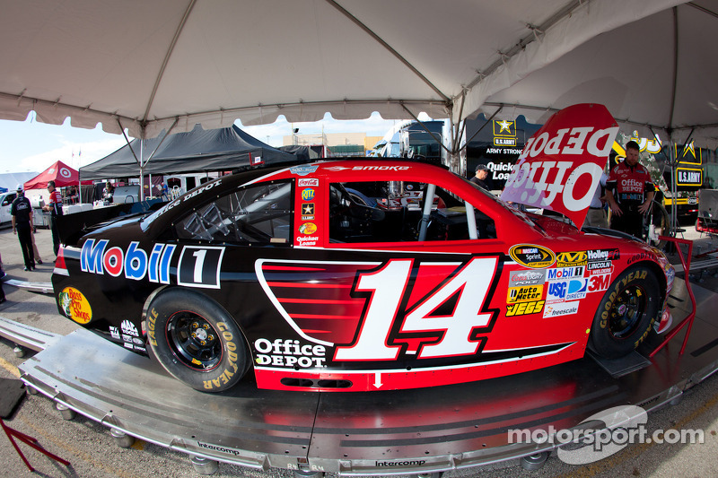 Car of Tony Stewart, Stewart-Haas Racing Chevrolet at technical inspection
