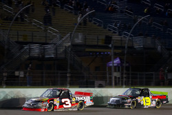 Ty Dillon, Richard Childress Racing Chevrolet and Johnny Sauter, ThorSport Racing Toyota