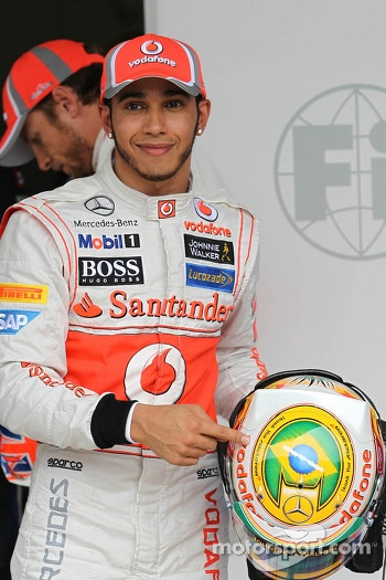 pole for Lewis Hamilton, McLaren Mercedes