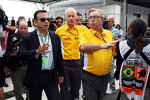 Carlos Ghosn, CEO Renault-Nissan, and Jean-Francois Caubet, Renault Sport F1 Managing Director