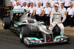 Michael Schumacher, Mercedes AMG F1  at a farewell to F1 team photograph
