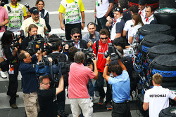 Fernando Alonso, Ferrari arrives at the circuit