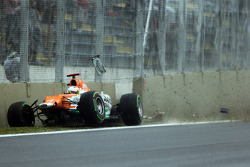 Paul di Resta, Sahara Force India crashed out of the race