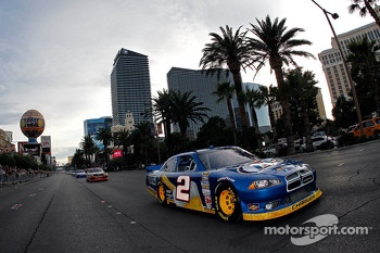 Brad Keselowski during the NASCAR Victory Lap at Las Vegas