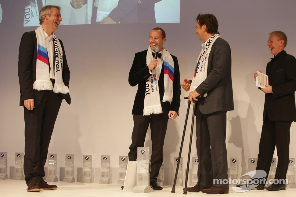 Thomas Biagi, Alex Zanardi and head of BMW Sport Jens Marquardt