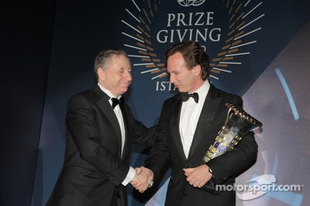 FIA Formula One World Championship Constructor's Trophy - Christian Horner - Jean Todt